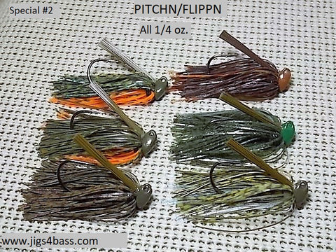 Special  # 2: Pitchn / Flippn Jigs, all 1/4 oz.