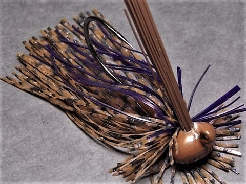 Finesse Football Jigs: Peanut Butter and Jelly/Purple