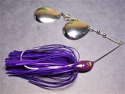 Colorado Double Deep Cup Spinnerbait: Hal's All Purple