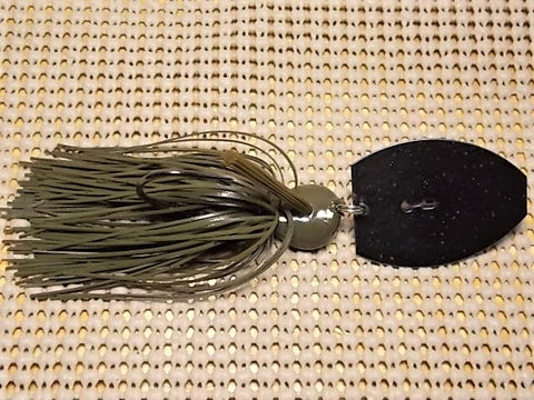Magnum 3/4 oz. bladed jig, green pumpkin with painted black blade
