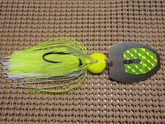 Magnum 3/4 oz. bladed jig, chartreuse/ white