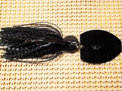 Magnum 3/4 oz. bladed jig, Black firecracker