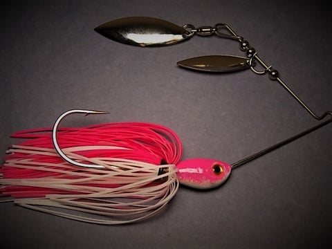 Double Willow Spinnerbait: Bubble Gum/Pearl