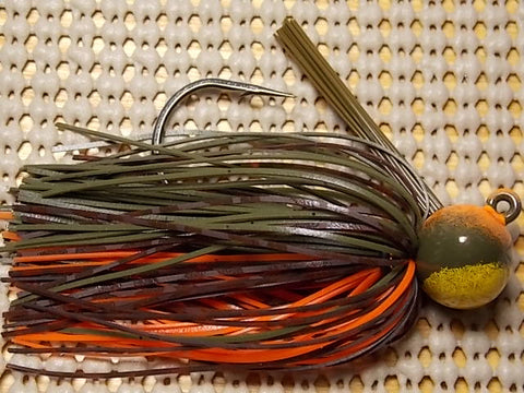 Football Head Jig: MO-CRAW + Yellow