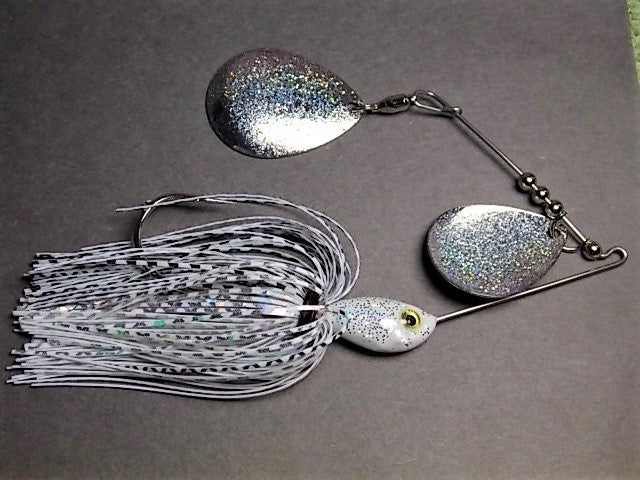 Colorado Double Deep Cup Spinnerbait + holo glitter  : Shad Holo