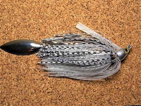 Switch Blade Jig: Clear silver/Gizzard shad