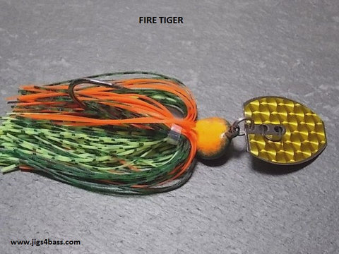 Bladed Swim Jig: Fire Tiger