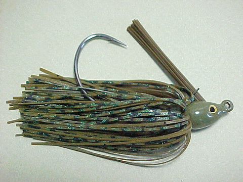 Premier Swim Jigs: Green Pumpkin Double Up