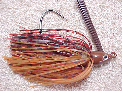 Premier Swim Jigs: Rust Barb Wire/Pumpkin