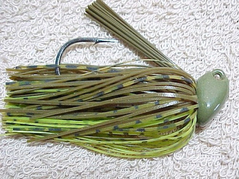 Flippin/Pitchin Jigs: Green Pumpkin/Green Whiskey/ Banana Seed