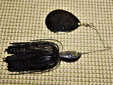 SHORT ARM COLORADO BLADE SPINNERBAIT: COLOR: Black/ Black Fire Cracker