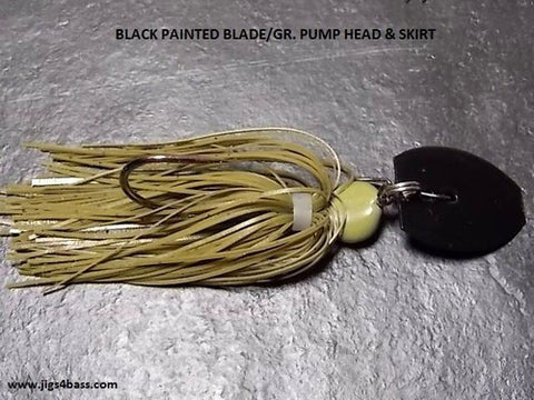 Bladed Swim Jig: Green Pumpkin, Painted Black Blade