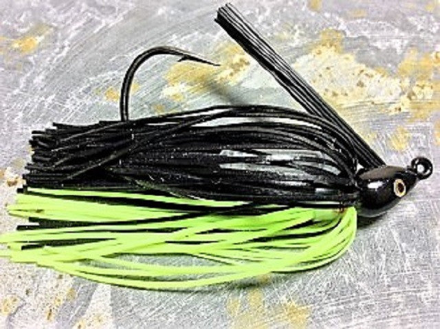 Swim Jigs: Tournament Line: Black/ Chartreuse