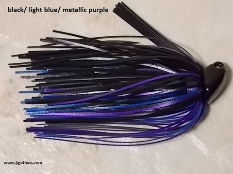 Flippn/Pitchn Jig: Black/ Blue/ Metallic Purple