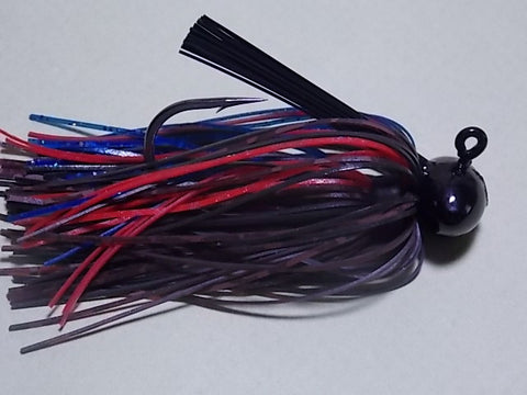 Football Head Jigs: Brown Barb Wire/ Black/ Red/ Blue (Jerry)