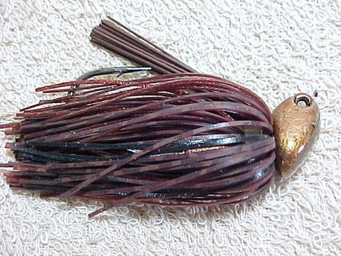 Flippin/Pitchin Jigs: Brown Barb Wire/Black/Copper