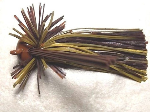Finesse Football Jigs:Brown Barb Wire/ Road Kill