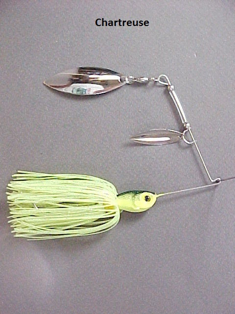 Spinnerbait, Double Willow: Chartreuse