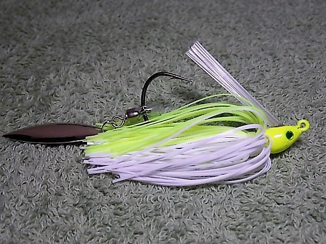 Switch Blade Jig: Chartreuse/White