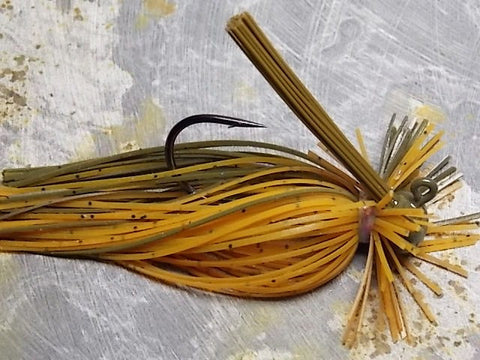 Finesse Football Jigs: Pumpkin/Green Pumpkin