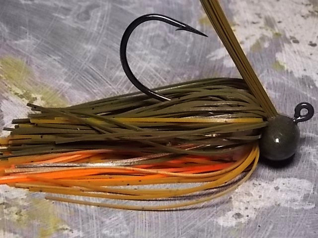 Football Jigs, Tournament Edition: Green Pumpkin/ Pumpkin/ Orange