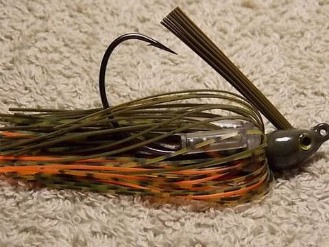 Premier Swim Jigs: Green Pumpkin/Whiskey/Orange