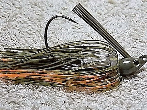 Swim Jigs: Tournament Line: Green Pumpkin/ Whiskey/ Orange