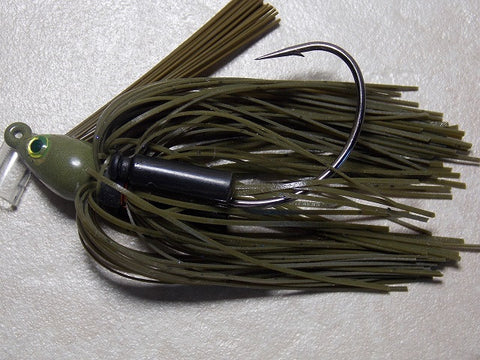 Swim Jigs: Tournament Line: Green Pumpkin