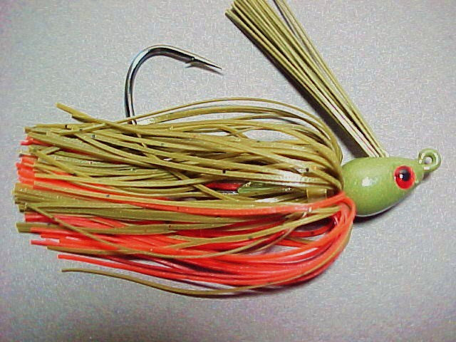 Premier Swim Jigs: Green Pumpkin/ Orange