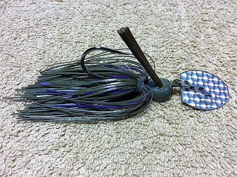 Bladed Swim Jig: Green Pumpkin/Purple