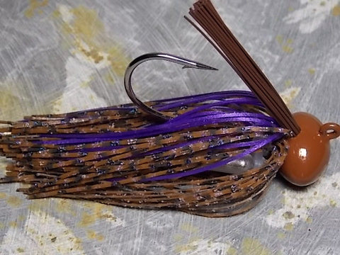 Football Jigs, Tournament Edition: PB & J/ Metallic Purple