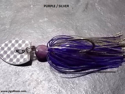 Bladed Swim Jig: Purple/Silver