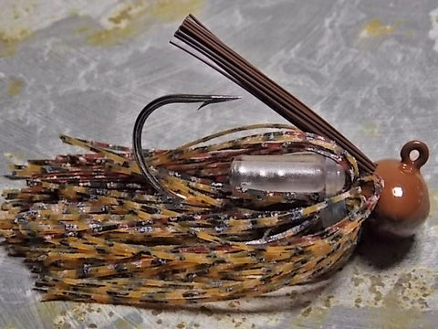 Football Jigs, Tournament Edition: Rust/ Amber Blue
