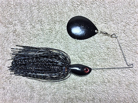Spinnerbaits, Single Colorado: Black Firecracker, Black Painted Blade, Red Eyes