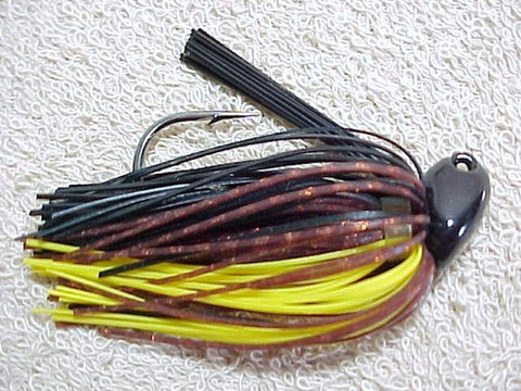 Flippin/Pitchin Jigs: Brown Barb Wire/Yellow/Copper/Black