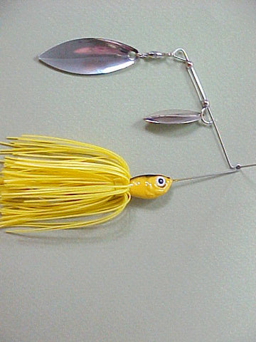 Spinnerbaits, Double Willow: School Bus Yellow
