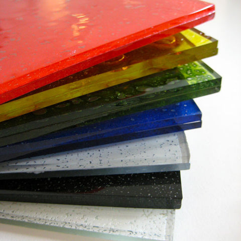 Basic set of glass enamel paint powders used when fusing with glass