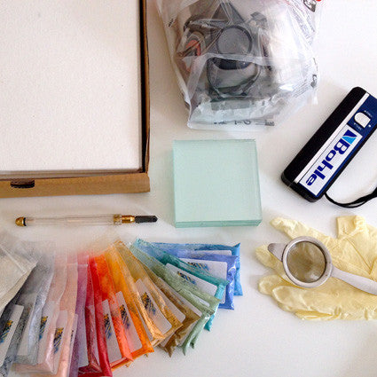 Super kit of supplies for glass fusing with enamels