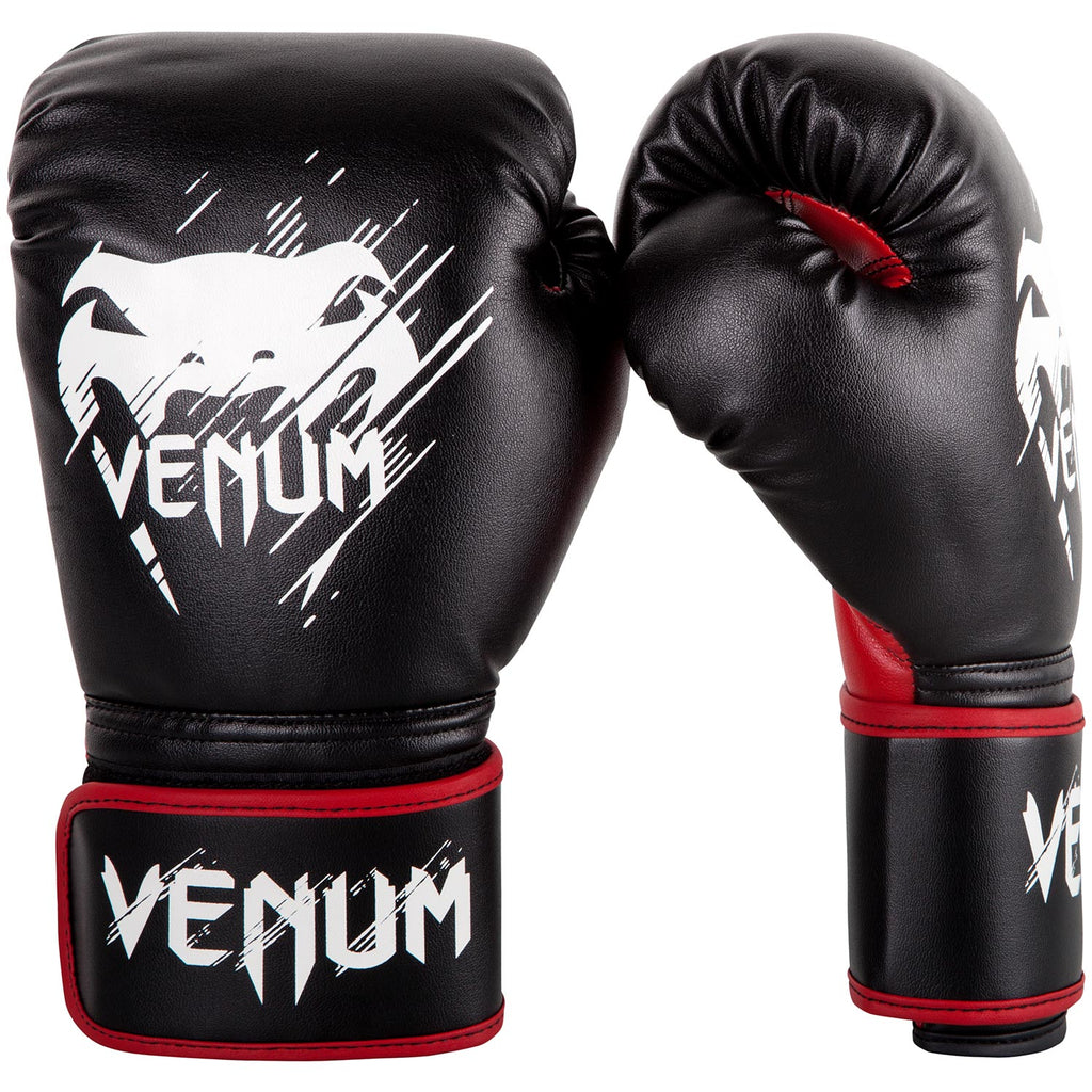 Venum Contender Kids Boxing Gloves - Black/Red Детские
