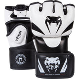 Venum Attack MMA Gloves - Black/Ice - Skintex leather