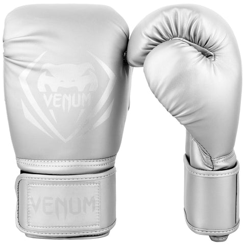 Venum Contender Boxing Gloves - Silver/Silver