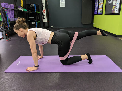 Banded-Kick-Back-Home-Glute-Exercise
