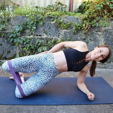Side Plank and Clam with Booty Band Combo