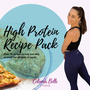 High Protein Recipe Ebook Pack Includes Calories & Macros