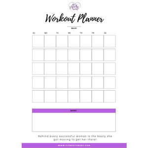 NEW Fitness Planner & Accountability Tracker - Printable
