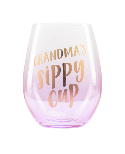 Grandma's Sippy Cup Wine Glass