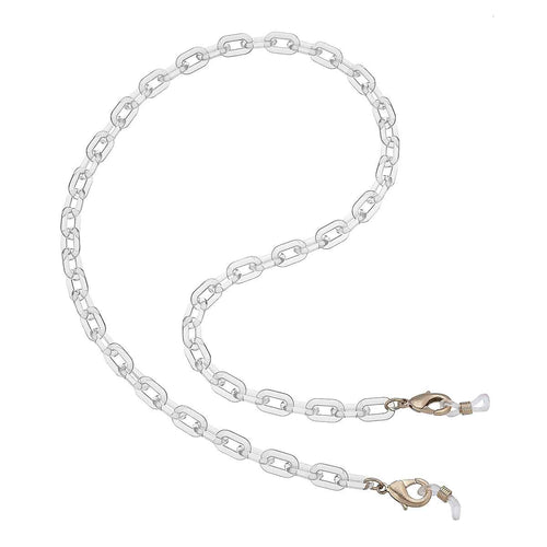 Felicity Resin Chain 3-in-1 Holder & Necklace In Clear