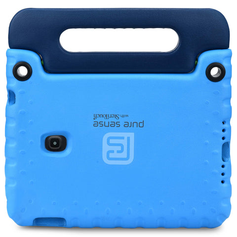 Open case cutouts for camera, volume buttons, charging port for Galaxy Tab A 8