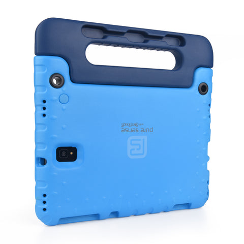 Open case cutouts for camera, volume buttons, charging port for Galaxy Tab S4 10.5