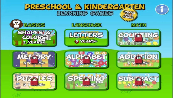Preschool & Kindergarten Games